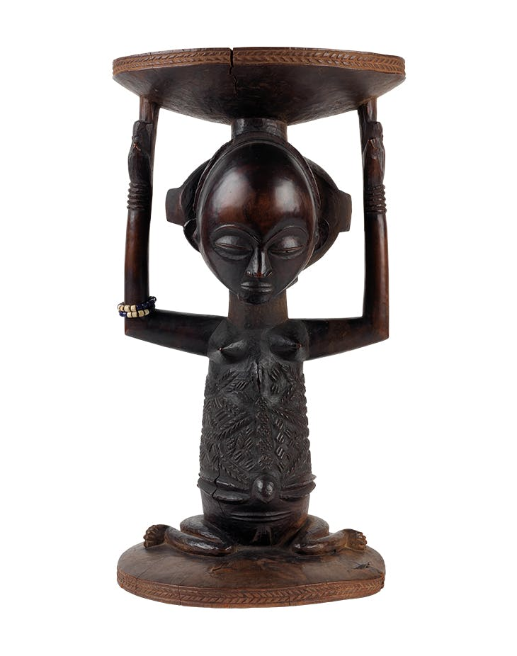 Prestige stool (Kipona) (late 18th–early 19th century), Master of the Warua or the Kunda, Luba peoples, Democratic Republic of the Congo. Metropolitan Museum of Art, New York