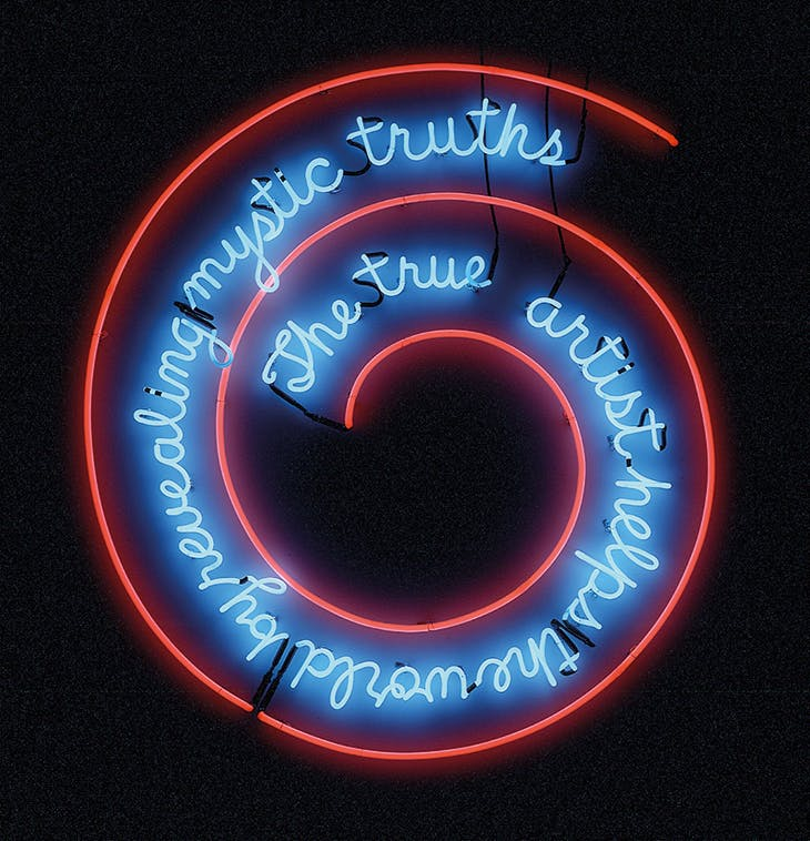 The True Artist Helps the World by Revealing Mystic Truths (Window or Wall Sign) (1967), Bruce Nauman. Kunstmuseum Basel.
