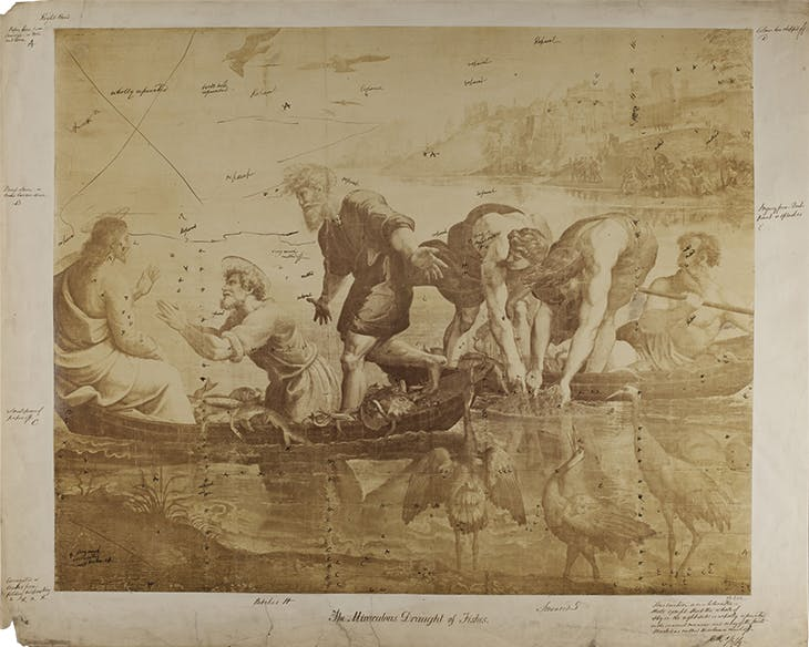 After Raphael – The Miraculous Draught of Fishes (1858), Charles Thurston Thompson. Victoria and Albert Museum, London.