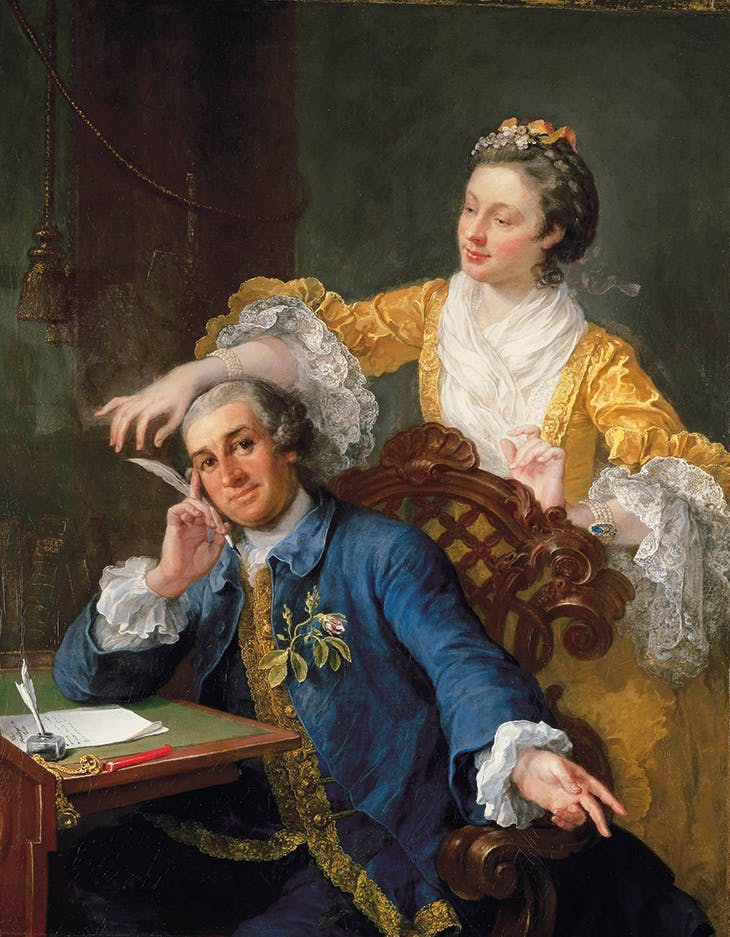 David Garrick with his Wife Eva-Maria Veigel (c. 1757–64), Willliam Hogarth. Royal Collection Trust. © HM Queen Elizabeth II 2020
