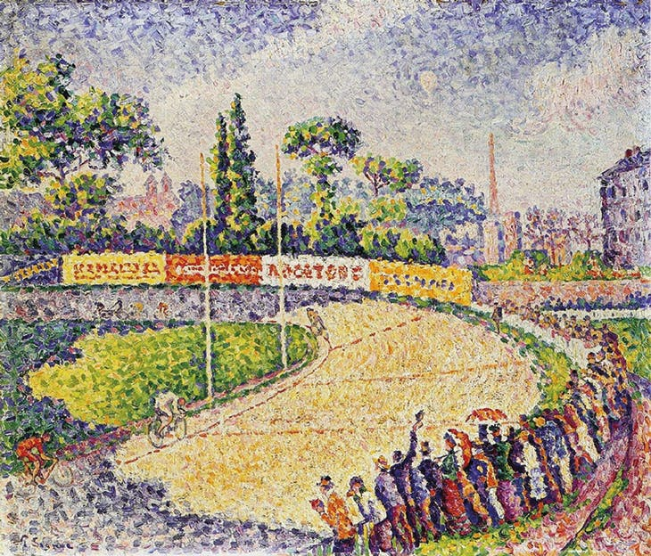 Le Vélodrome (1899), Paul Signac. Private collection.