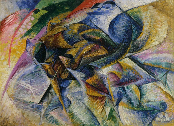 Dynamism of a Cyclist (1913), Umberto Boccioni. Gianni Mattioli Collection