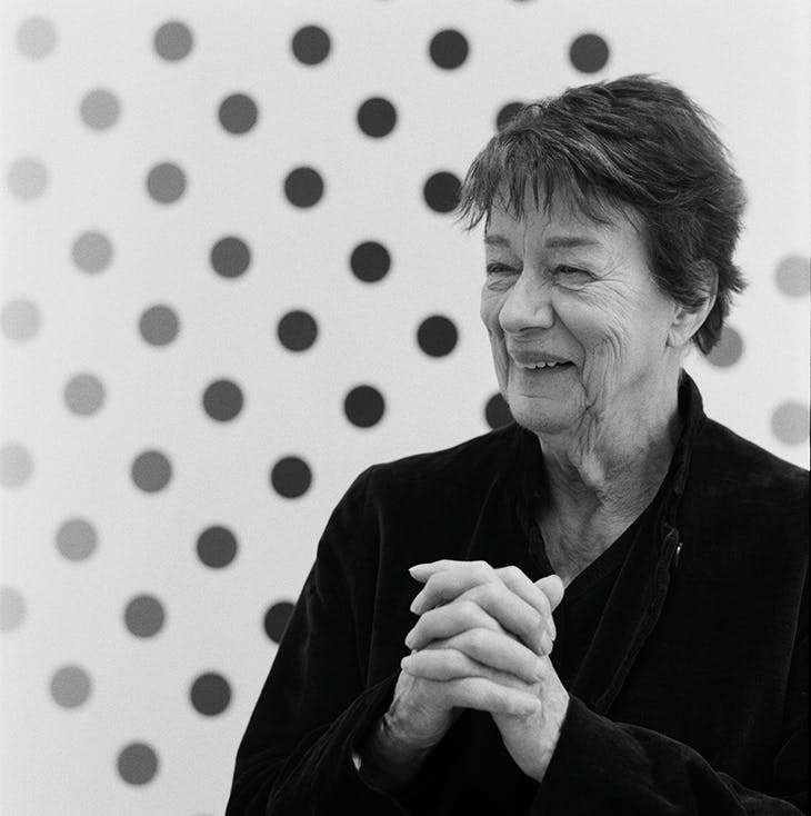Bridget Riley. Photo: Johnnie Shand Kydd; courtesy the artist and David Zwirner
