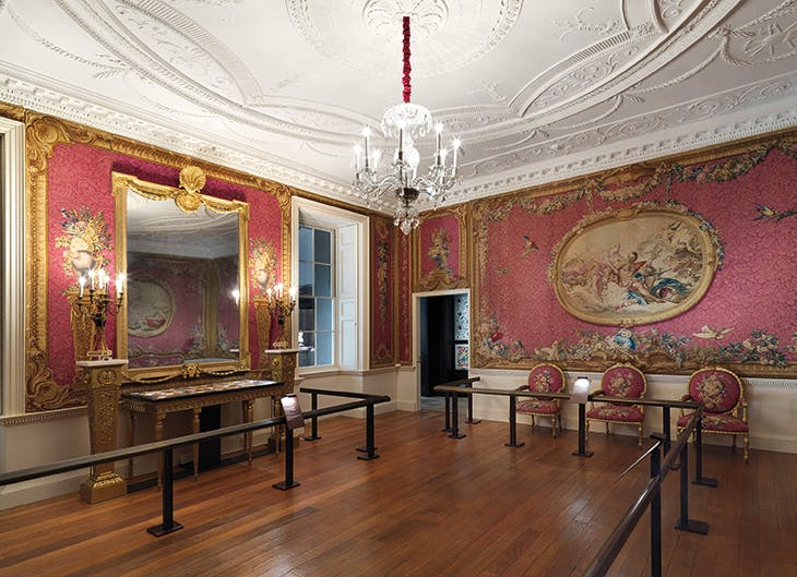 The Croome Court Tapestry Room in the Met's British Galleries.