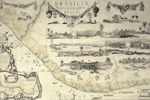 Map of Brazil from the Klencke Atlas (c. 1660), Johannes Klencke.