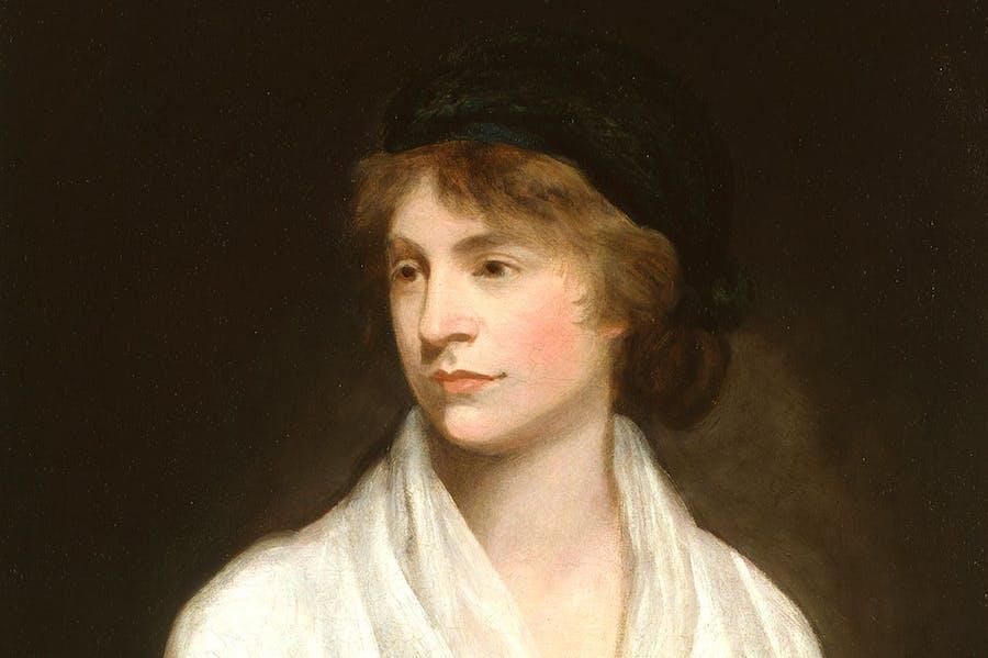 Mary Wollstonecraft (detail; c. 1797), John Opie. National Portrait Gallery, London