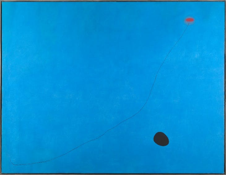 Blue III (1961), Joan Miró.