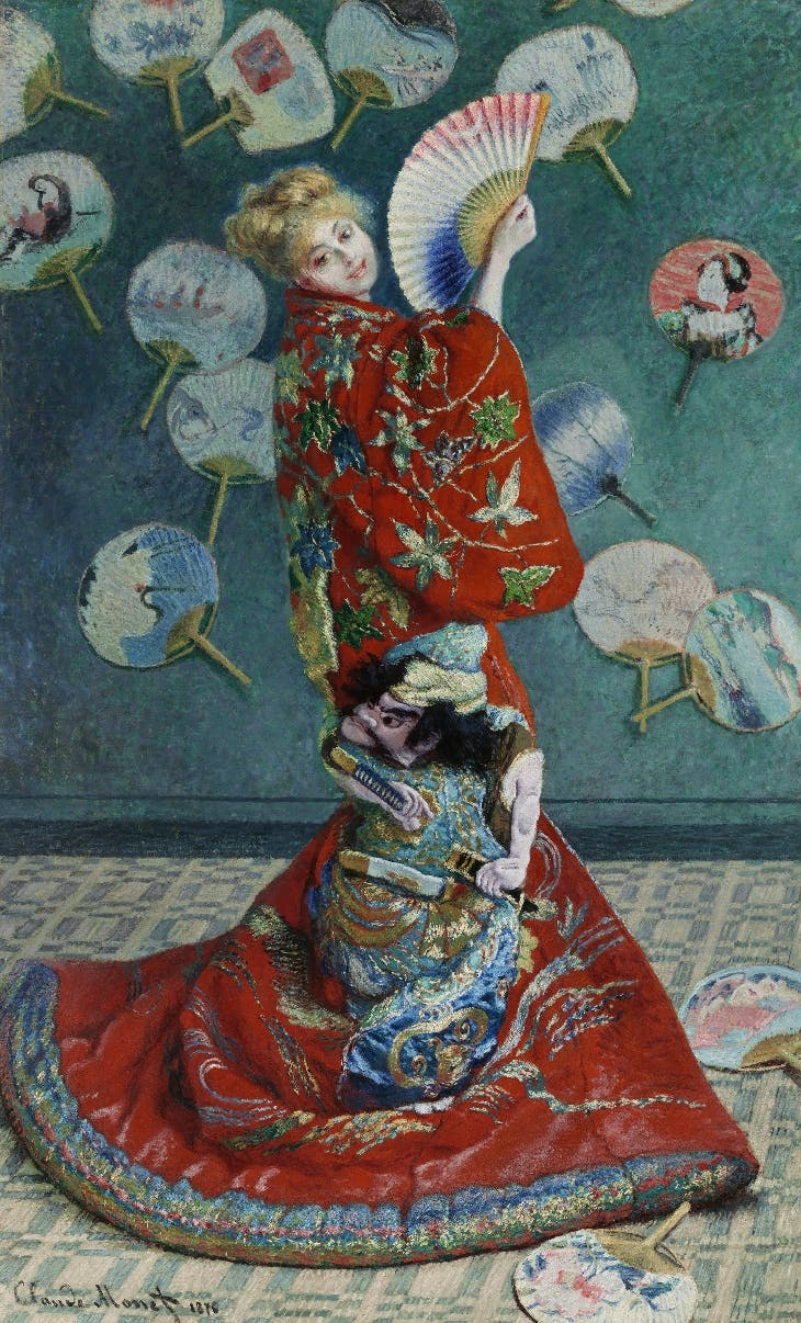 La Japonaise (Camille Monet in Japanese Costume) (1876), Claude Monet.