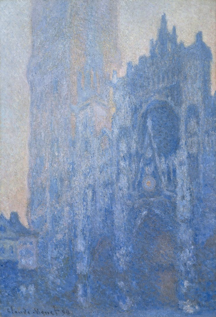 Rouen Cathedral Façade and Tour d'Albane (Morning Effect) (1894), Claude Monet.