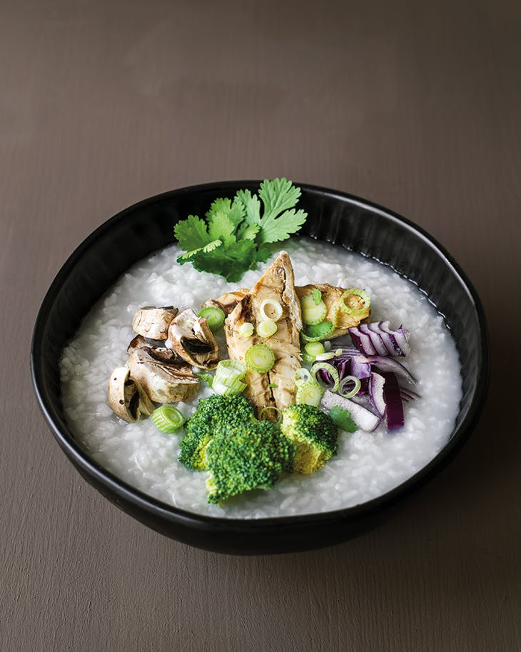 Ming Wong's 'Berliner Brei', or congee with canned fish