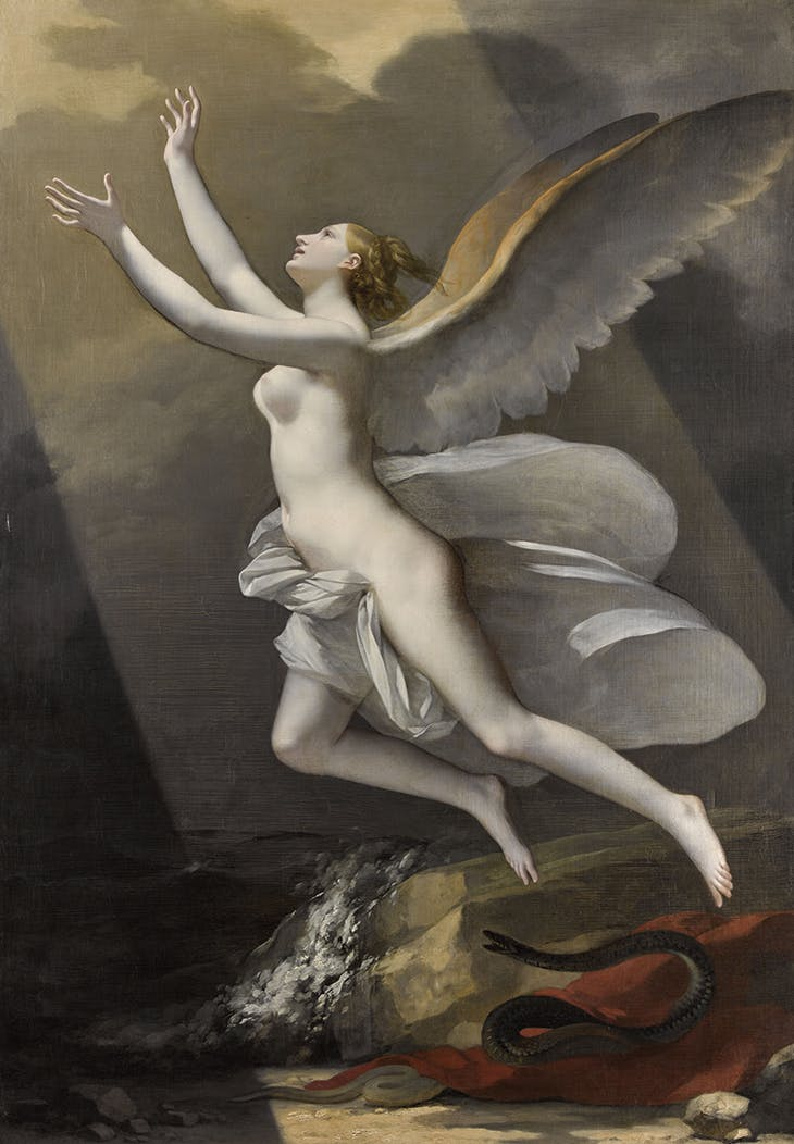 The Soul Breaking its Bonds with the Earth (1821–23), Pierre-Paul Prud'hon.