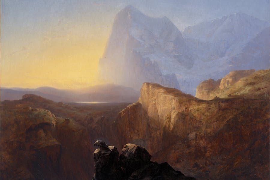 The Eiger at Sunrise (1844), Alexandre Calame