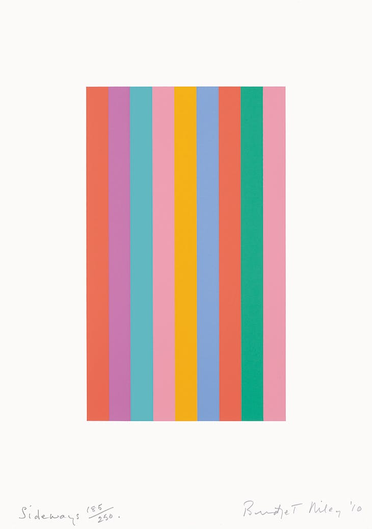 Sideways (2010), Bridget Riley.