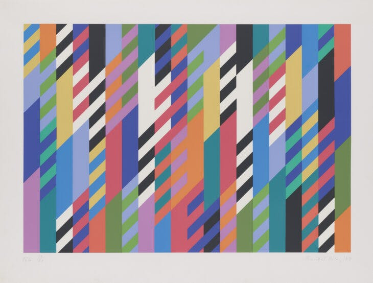 Fête (1989), Bridget Riley.