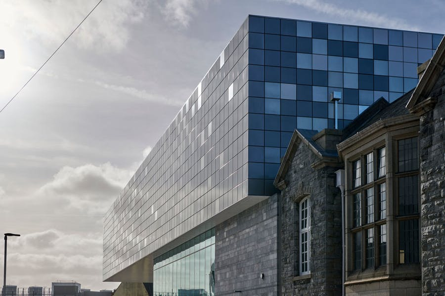 View of the extension on the back of the former Museum and Art Gallery and Central Library.