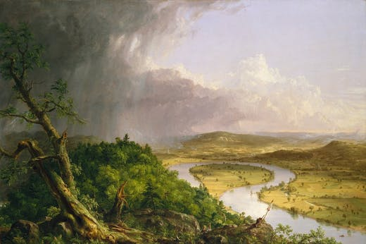 View from Mount Holyoke, Northampton, Massachusetts, after a Thunderstorm – The Oxbow (1836), Thomas Cole. The Metropolitan Museum of Art, New York