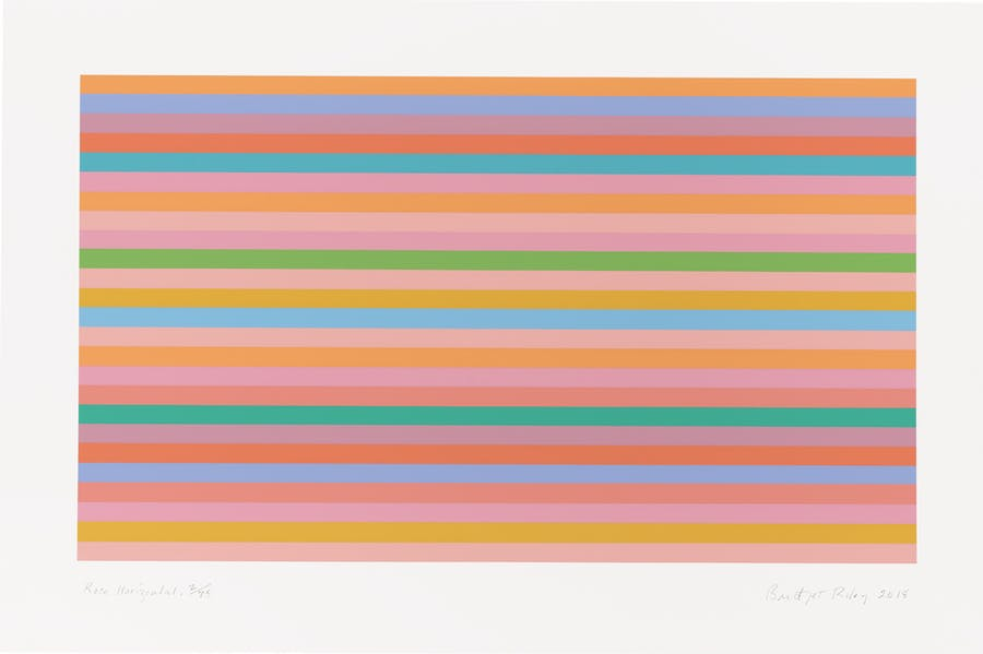 Rose Horizontal (2018), Bridget Riley.