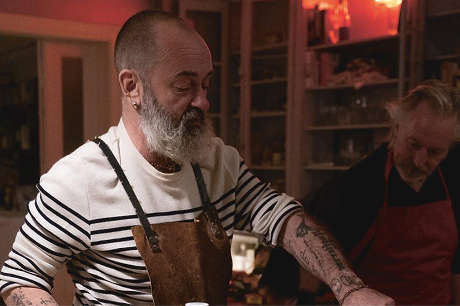 Douglas Gordon preparing Cullen skink