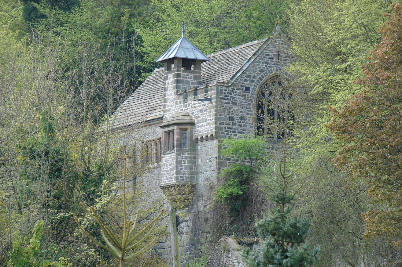 Chapel of St John the Baptist, Matlock Dale, Derbyshire, designed by Guy Dawber and constructed in 1897