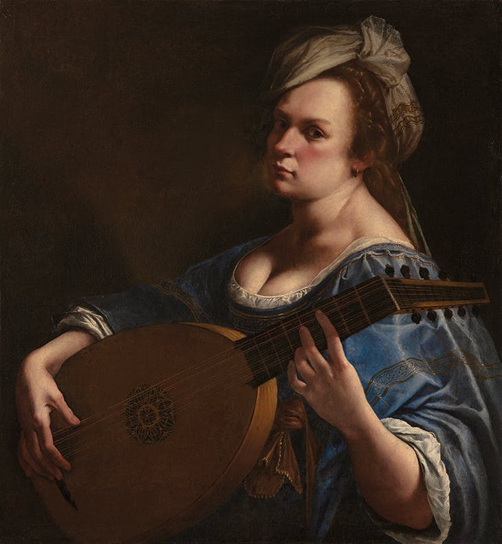 Self Portrait as a Lute Player (c. 1615–18), Artemisia Gentileschi. Wadsworth Atheneum Museum of Art, Hartford