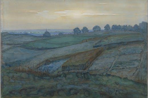 Landscape near Arnhem (1900–01), Piet Mondrian.