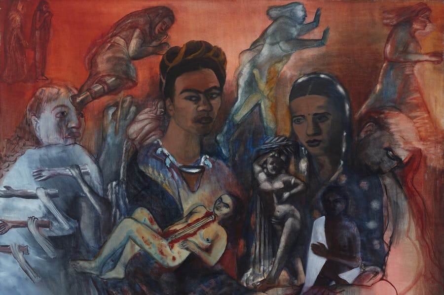 Old Arguments on Indigenism (detail; 1989), Nalini Malani.