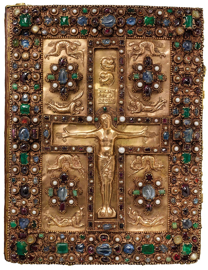 Front cover of the Lindau Gospels (c. 880–90), Abbey of St Gall, Switzerland. Morgan Library & Museum, New York