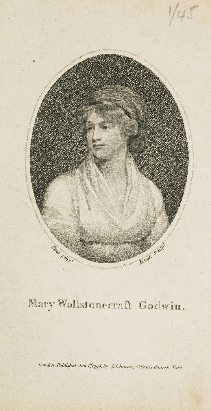 Mary Wollstonecraft Godwin (c. 1797), engraving by James Heath after a portrait by John Opie (published by Daniel Isaac Eaton). National Galleries Scotland