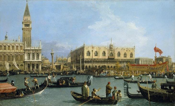The Bacino di San Marco on Ascension Day (c. 1733–34), Canaletto.