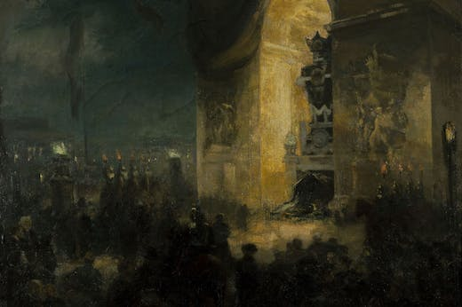 The Wake beneath the Arc de Triomphe, 31 May 1885 (1903), Alfred Roll.