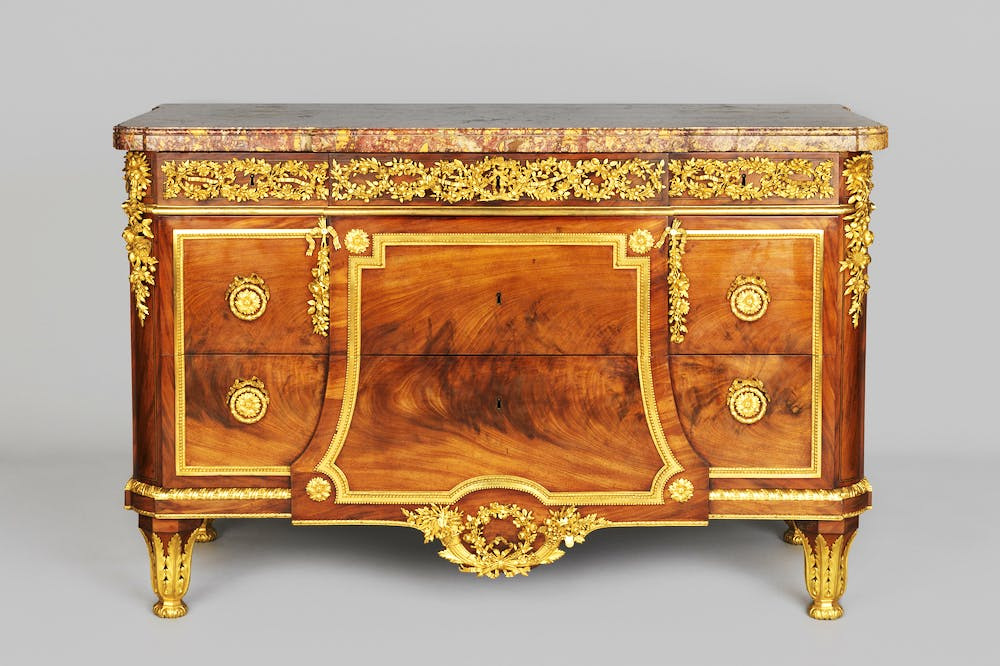 Chest-of-drawers (1782; re-veneered c. 1795–1815), cabinetwork by Jean-Henri Riesener.
