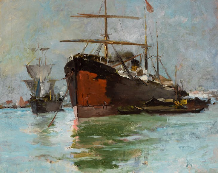 At Anchor, Venice (1884), Frank Duveneck.
