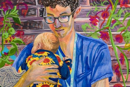 Ryan, Respiratory Doctor in Training (detail; 2020), Aliza Nisenbaum