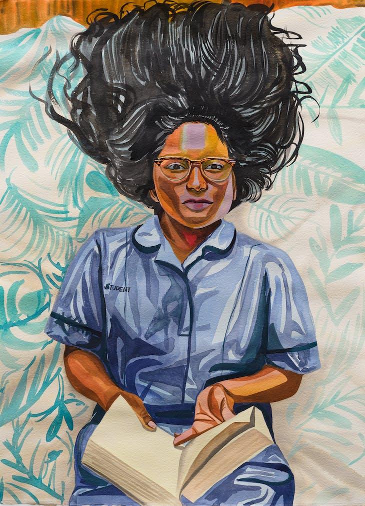 Naveena, Student Nurse and Succulents (2020), Aliza Nisenbaum.