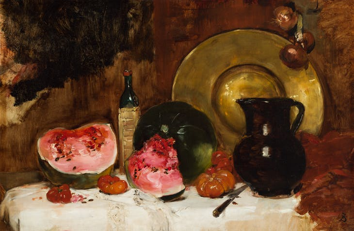Still Life with Watermelon (c. 1878), Frank Duveneck.