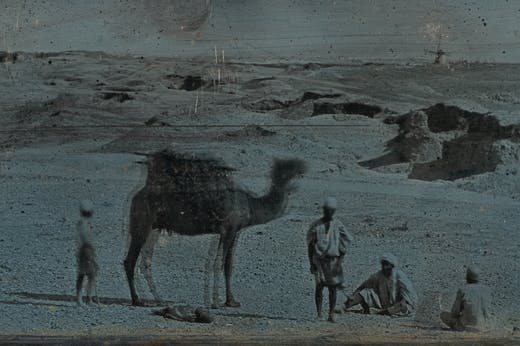 Near Alexandria: The Desert (detail; 1842), Joseph-Philibert Girault de Prangey.