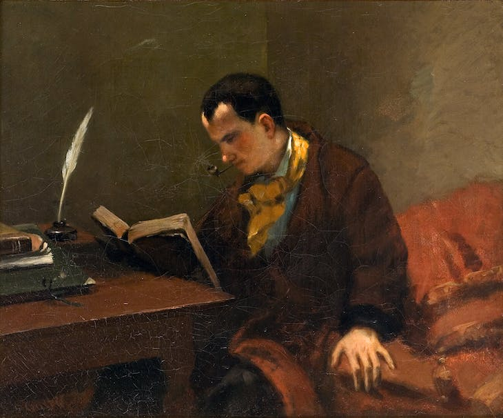 Portrait of Charles Baudelaire (1849), Gustave Courbet.