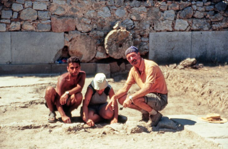 Ian Jenkins and colleagues on excavation at Cnidos.