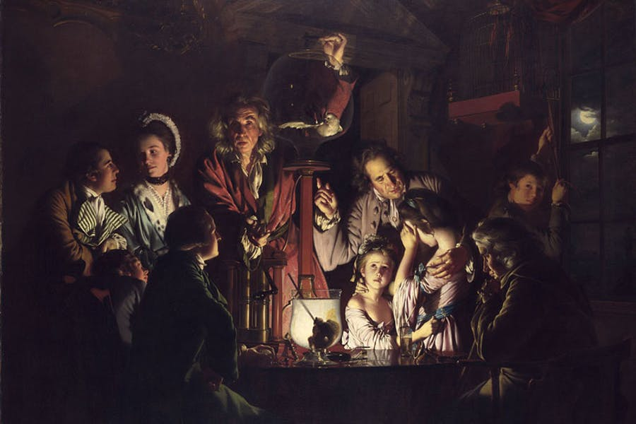 An Experiment on the Bird in an Air Pump (1768), Joseph Wright of Derby. National Gallery, London