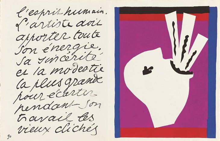 'L'avaleur de sabres' from Jazz (1947), Henri Matisse. Philadelphia Museum of Art.