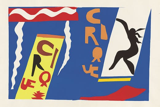 'Cirque' from Jazz (1947), Henri Matisse. Philadelphia Museum of Art.