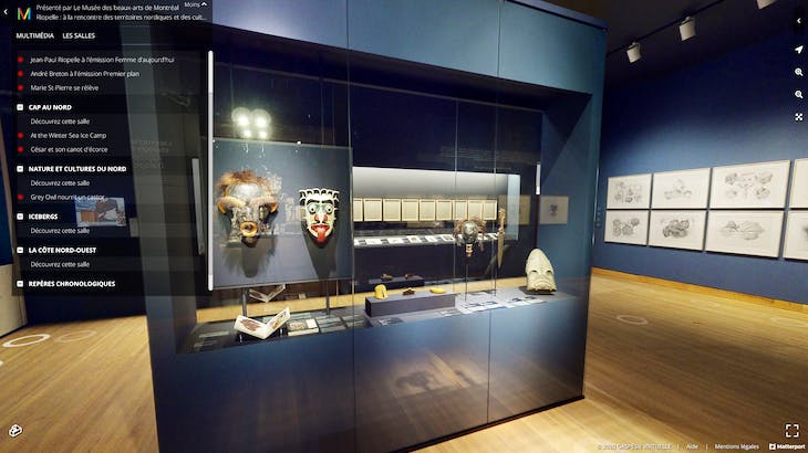 View of the virtual edition of the exhibition. Photo MMFA