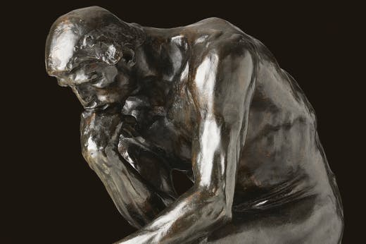 The Thinker (detail; 1880/82), Auguste Rodin.
