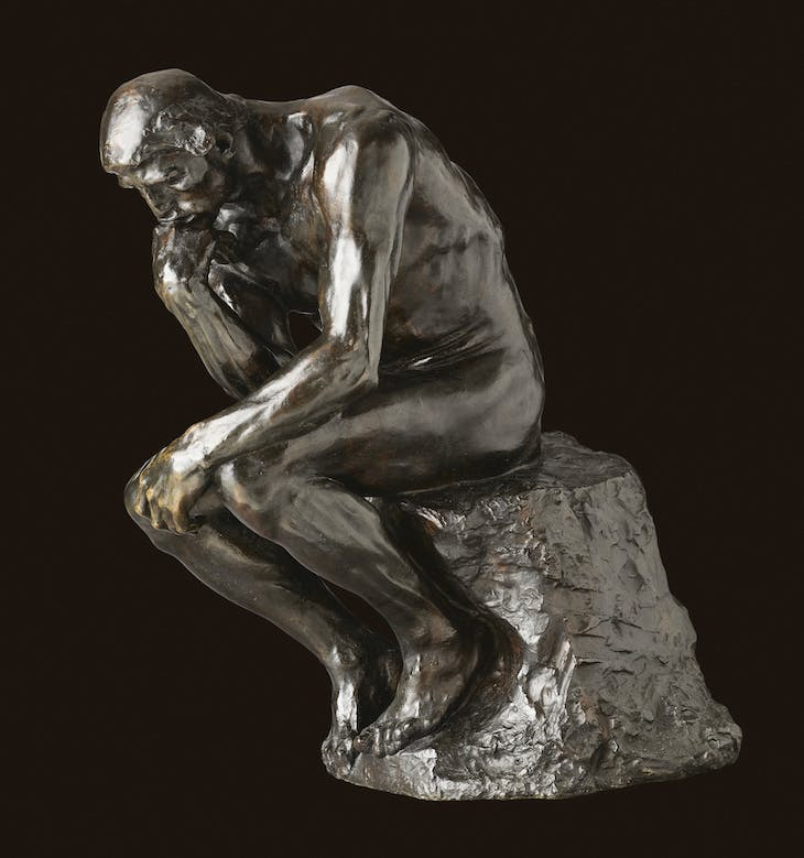 The Thinker (1880/82), Auguste Rodin.