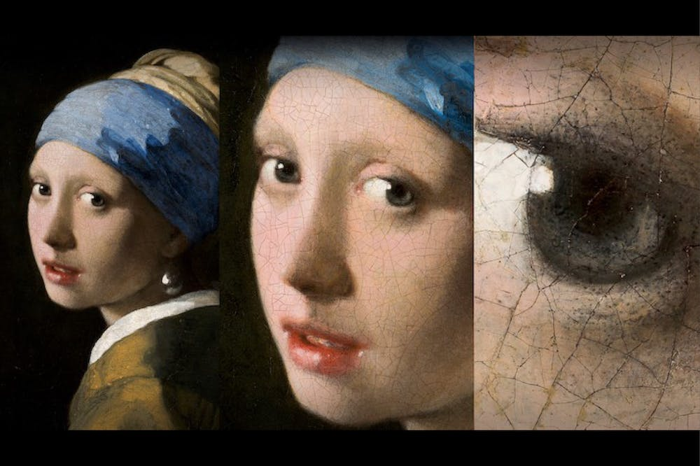 Vermeer's Girl with a Pearl Earring, photographed in gigapixel resolution.
