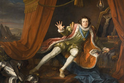 David Garrick as Richard III (detail; c. 1745), William Hogarth. Walker Art Gallery.