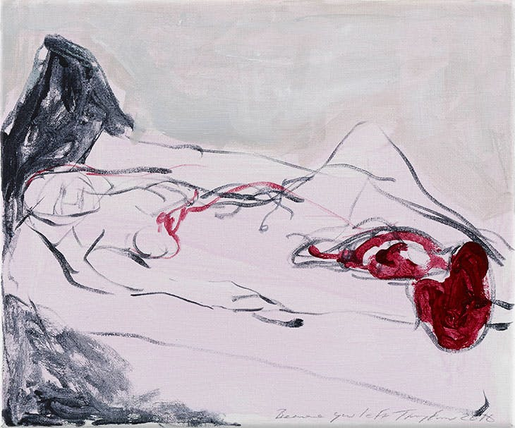 Because you left (2016), Tracey Emin. Private collection.