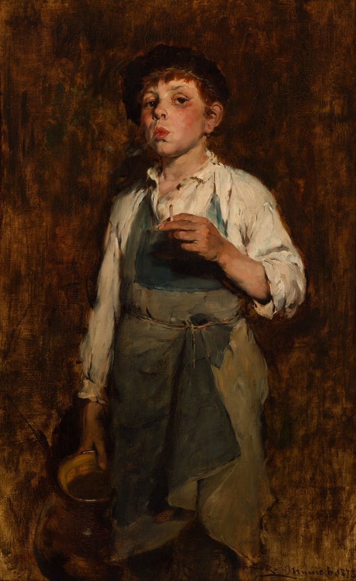 He Lives by His Wits (1878), Frank Duveneck.