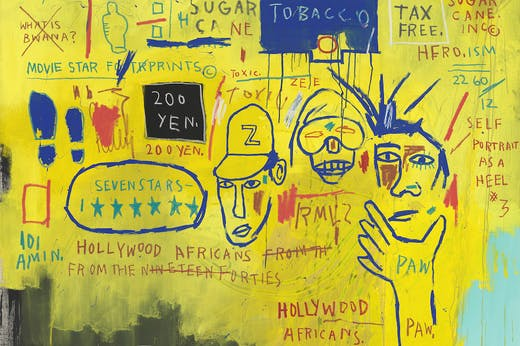 Hollywood Africans (detail; 1983), Jean-Michel Basquiat.