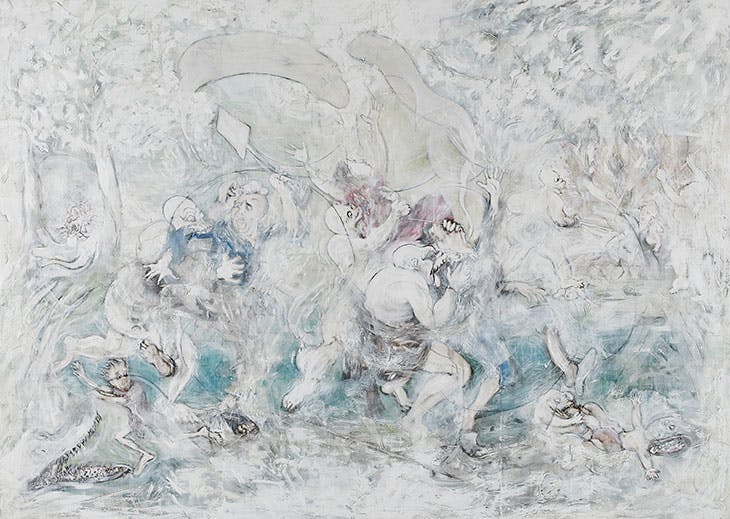 White on White (or Blessings of Emigration to the Cape, after Cruikshank) (2019), Mikhael Subotzky.